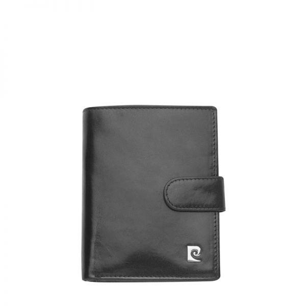 Мъжки портфейл PIERRE CARDIN - ,вертикален, черна гладка кожа