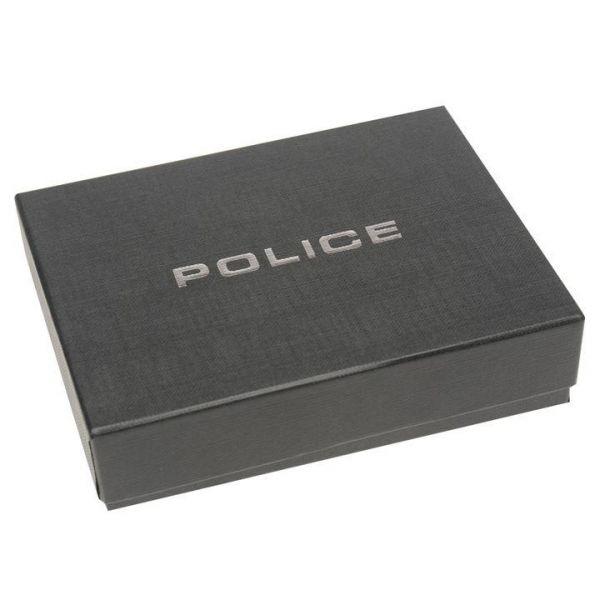 Вертикален портфейл Police Wings, кафяв