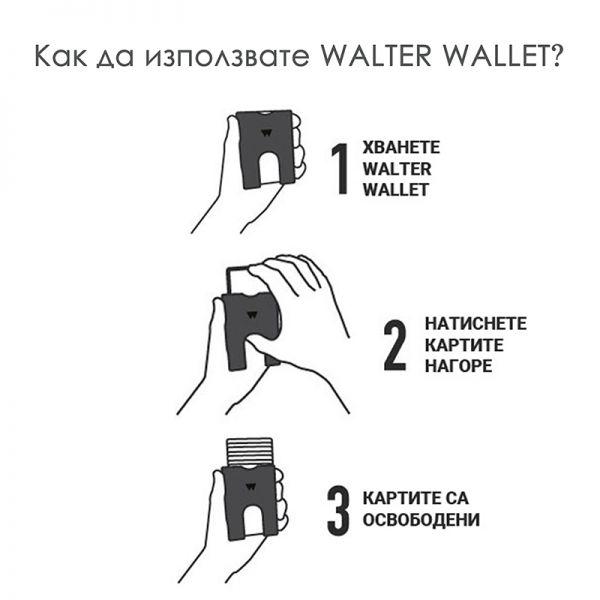 Портфейл WALTER WALLET, True Blue