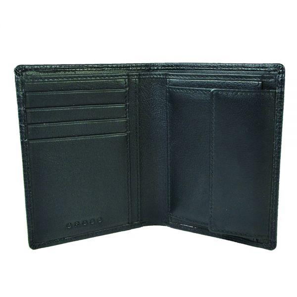 Мъжки портфейл, вертикален, с монетник Cross RTC, черен