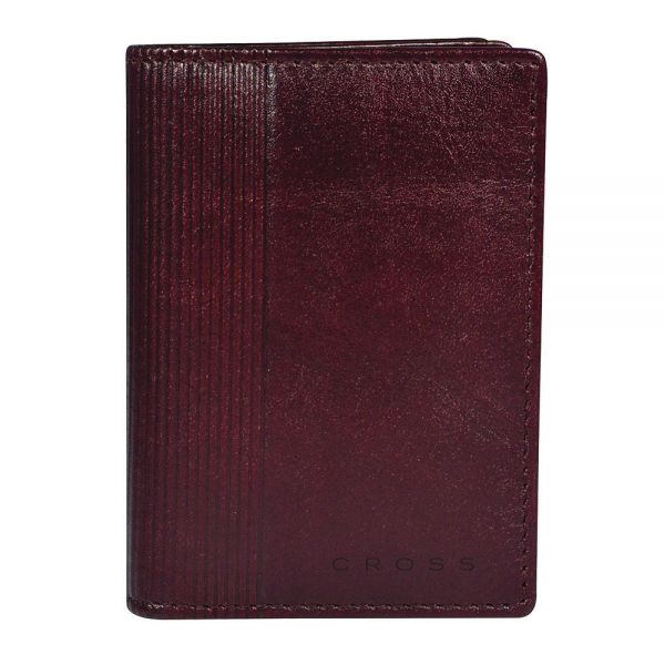 Калъф за документи, карти и визитки Cross Vachetta Spine, кафяв/бордо (brandy)