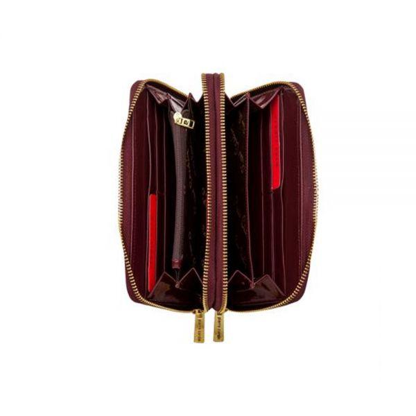 Дамско портмоне Pierre Cardin червено, c гланц