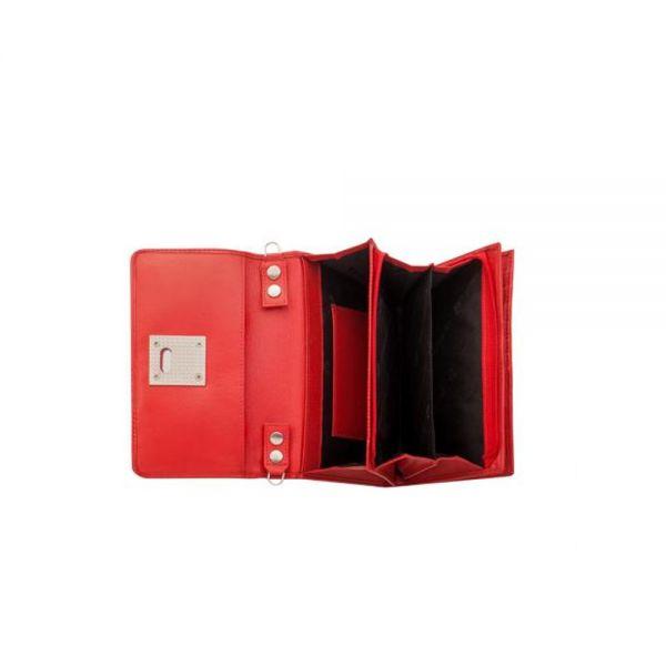 Дамски портфейл Pierre Cardin червено, вертикално