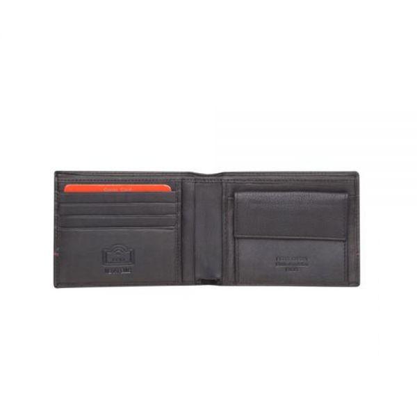 Мъжки портфейл Pierre Cardin, червена линия, черен