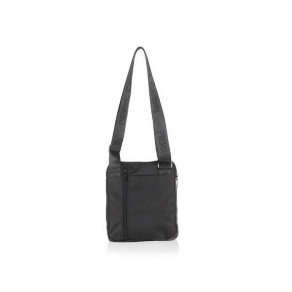 Мъжка чанта Pierre Cardin, плат и еко кожа, черна