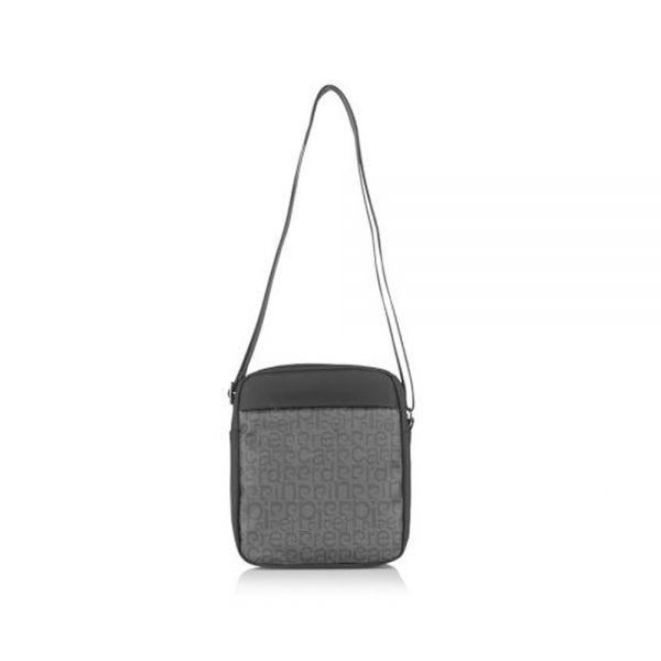 Мъжка чанта Pierre Cardin, черна-сива