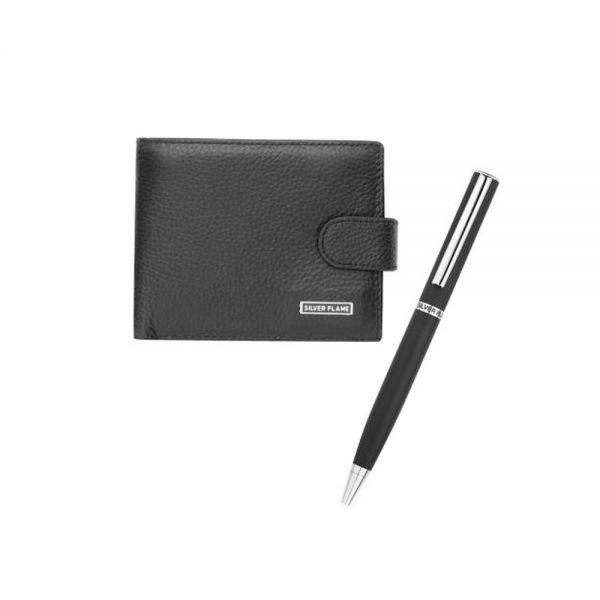 Комплект портфейл и ключодържател SILVER FLAME