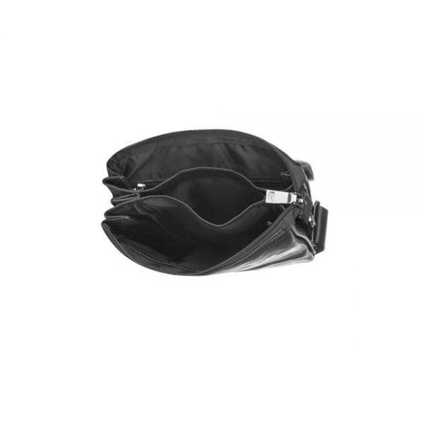 Средна мъжка чанта SILVER FLAM, черна