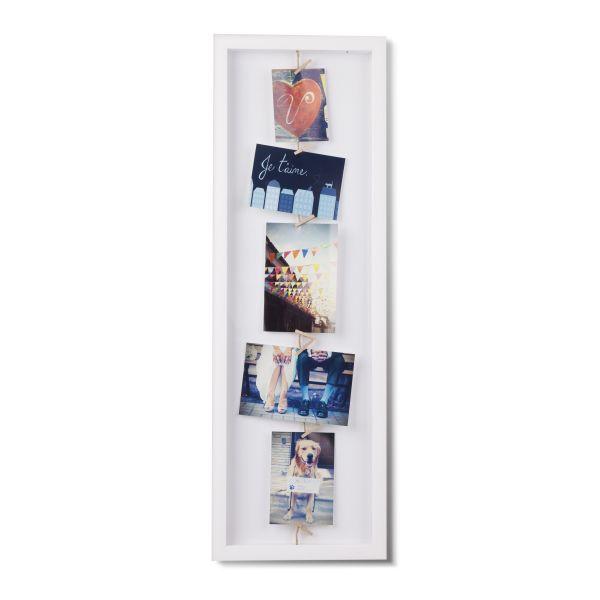 """UMBRA Рамка за снимки  """"CLOTHESLINE FLIP"""" - цвят бял"""