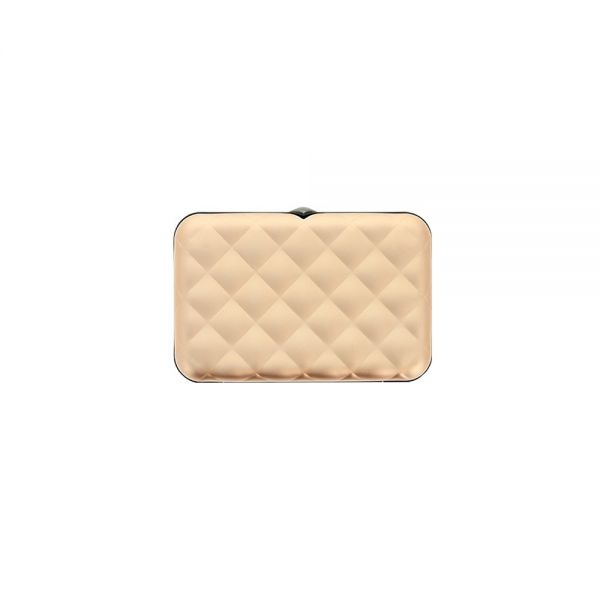 Дамски портфейл OGON Quilted Button, Златист