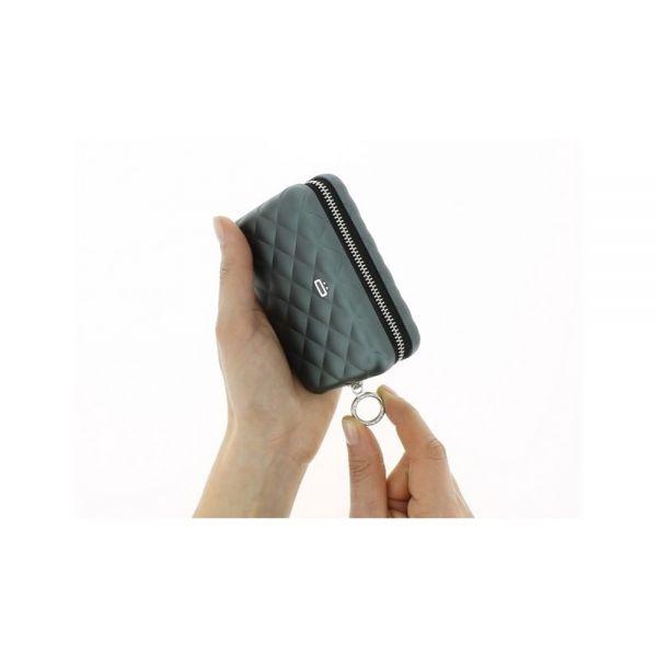 Дамски портфейл OGON Quilted Zipper, Сребрист