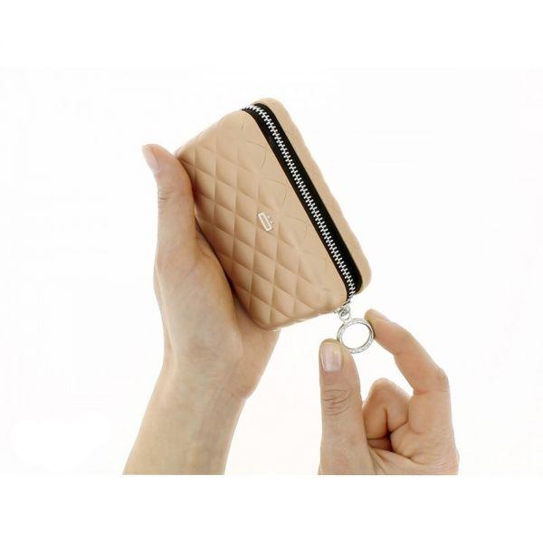 Дамски портфейл OGON Quilted Zipper, Червен