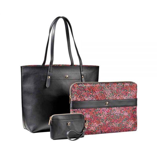 """Дамска чанта Wenger Mariesol, комплект с калъф за 14"""" лаптоп и малка чантичка за ръка"""