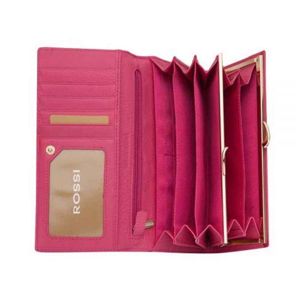 Дамско портмоне ROSSI, Червено Гланц с листа