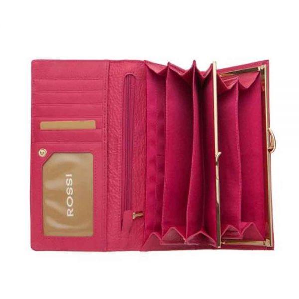 Дамско портмоне ROSSI, розовo Шагрен