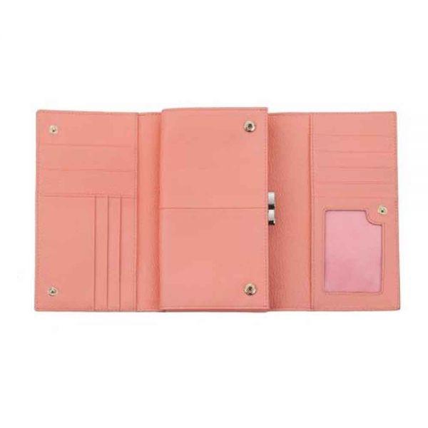 Дамско портмоне ROSSI, Сафиано Блестящо Розово