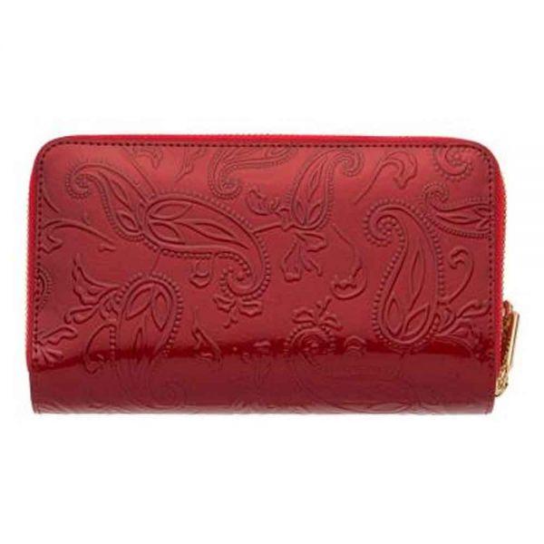 Дамско портмоне ROSSI, Червено Шагрен