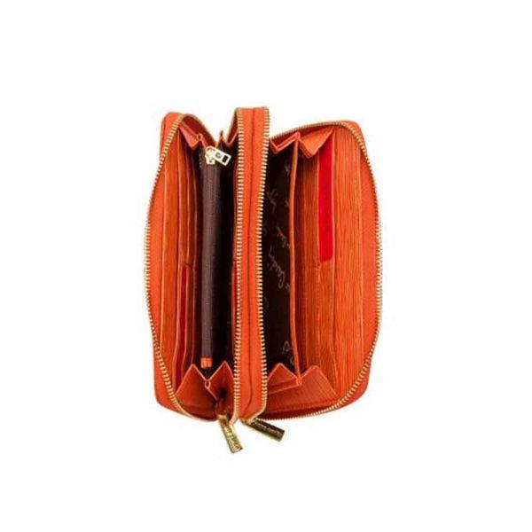 Дамски портмоне Pierre Cardin, оранжево с черти