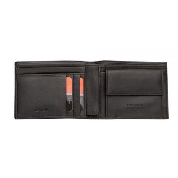 Мъжки портфейл Pierre Cardin, черен мат
