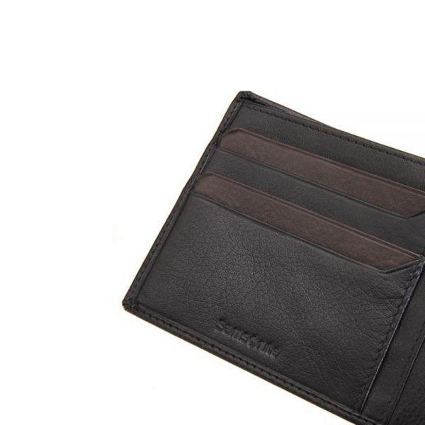 Елегантен мъжки портфейл Samsonite, черна естествена кожа