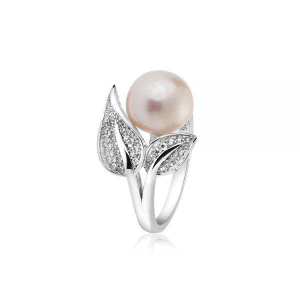 Пръстен бяла перла