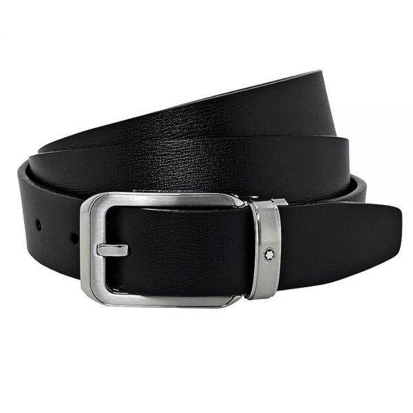 Кожен колан Montblanc Black