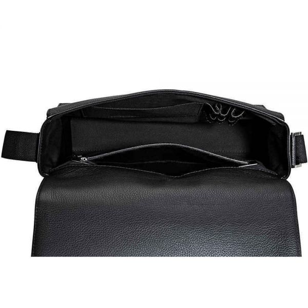 Чанта през рамо  Montblanc Meisterstück Soft Grain Messenger, Черна