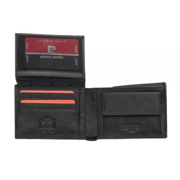 Класически мъжки портфейл от естествена кожа Pierre Cardin