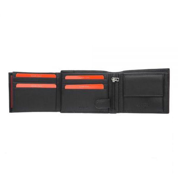 Мъжки портфейл Pierre Cardin, с вертикална червена черта