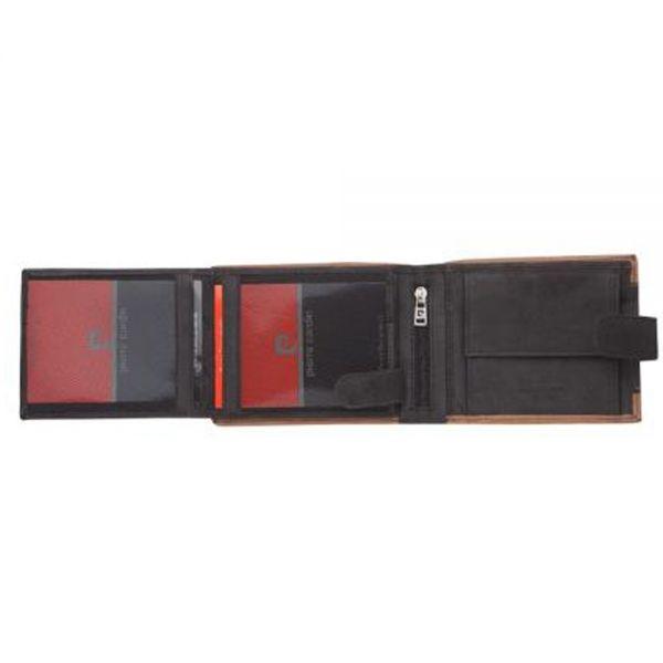 Мъжки портфейл Pierre Cardin, кафяво и черно