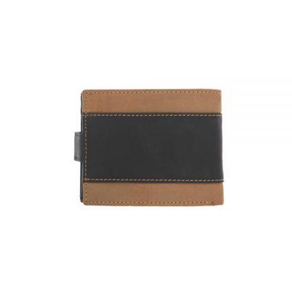 Малък мъжки портфейл Pierre Cardin, кафяво и черно