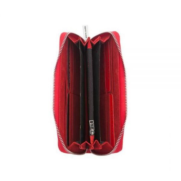 Дамски портмоне Pierre Cardin, червена щампа