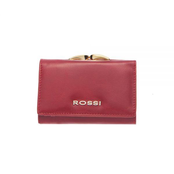 Малко дамско портмоне ROSSI, Маслено Червено