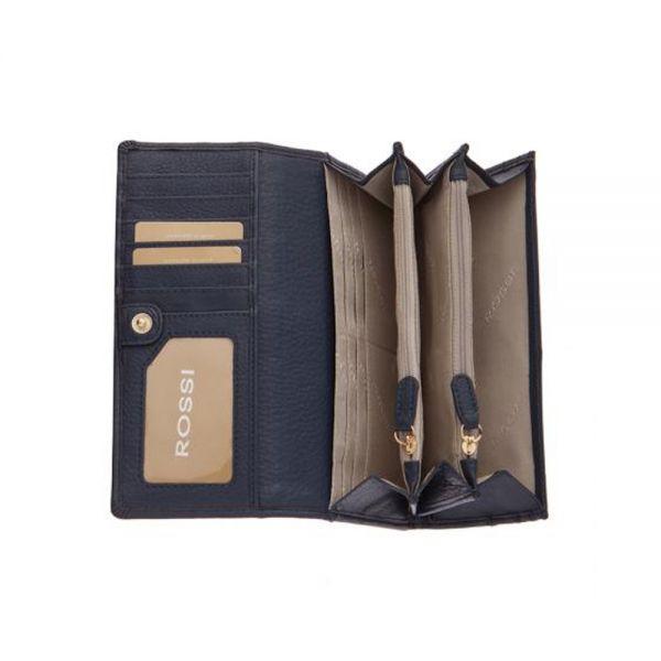 Дамско портмоне ROSSI, цвят боровинка