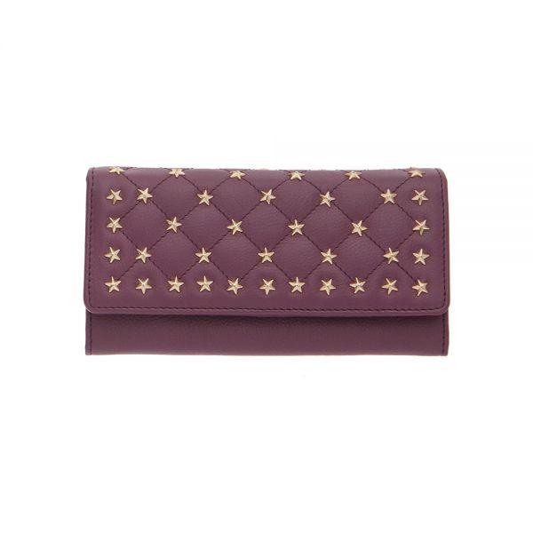 Дамско портмоне ROSSI със звездички, винено червено