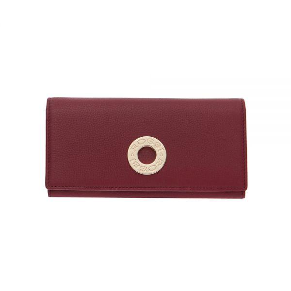 Дамско портмоне ROSSI в ягодово червен