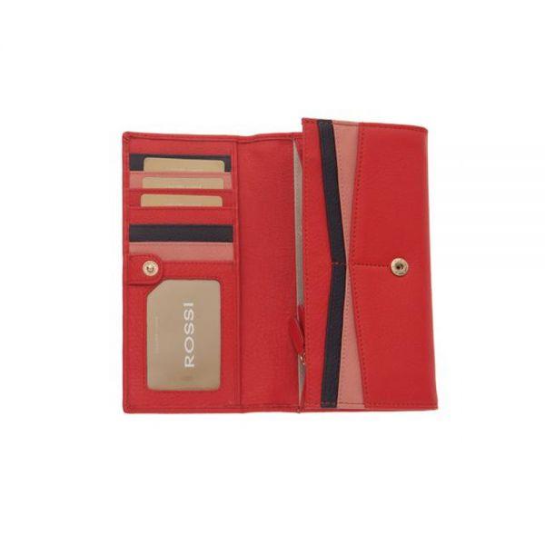 Дамско портмоне ROSSI наситено червено