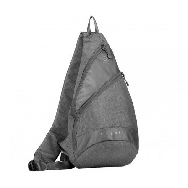 Чанта от полиестер Bugatti Camo, малка, черна