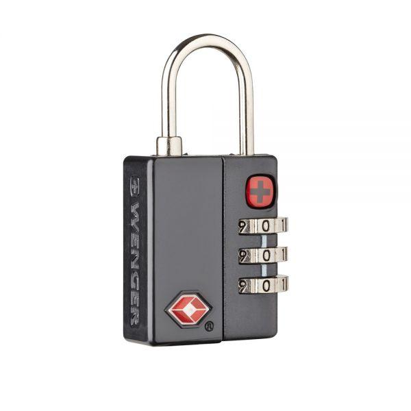 Катинар с трицифрен код Wenger Dialog Lock TSA, черен