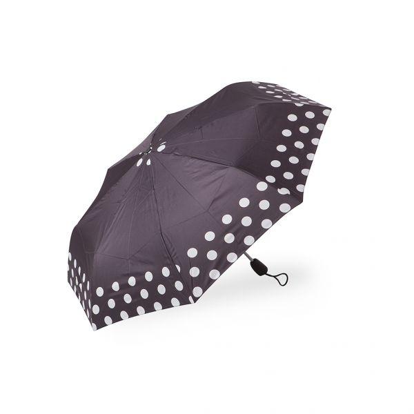 Дамски чадър Pierre Cardin черен с бял кант