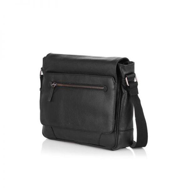 Кафява мъжка чанта  с цип OILY DIANA, Silver Flame