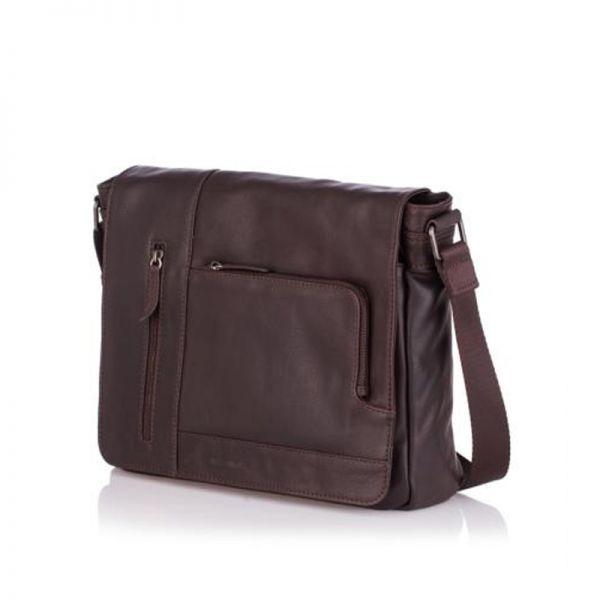 Мъжка стилна чанта OILY DIANA, Silver Flame