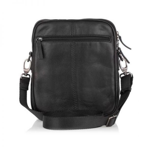 Мъжка стилна чанта с цип RIO, Silver Flame