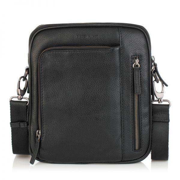 Мъжка чанта черна RIO, Silver Flame