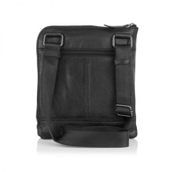 Мъжка чанта черна ANDY, Silver Flame