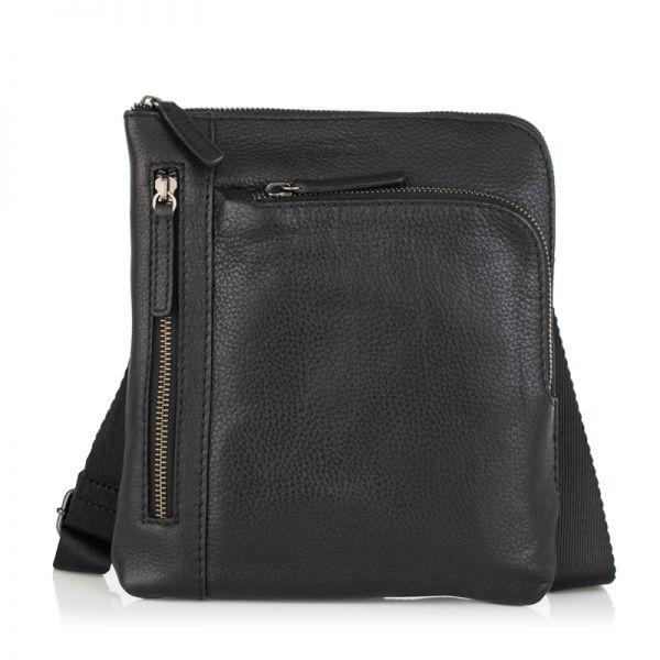Мъжка черна чанта OILY DIANA, Silver Flame
