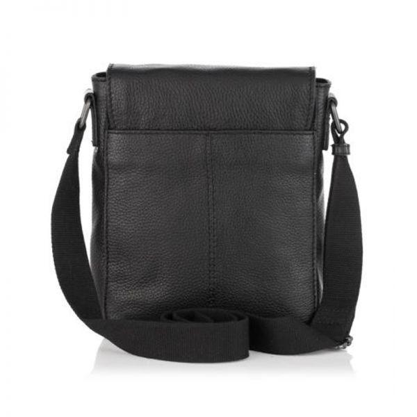 Мъжка черна чанта ANDY, Silver Flame