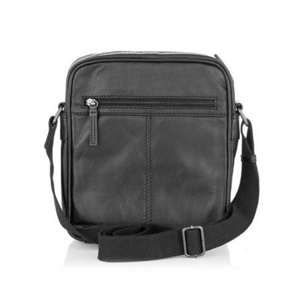 Мъжка чанта PUNCH BLACK, Silver Flame