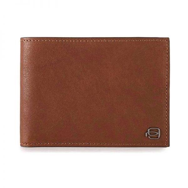 Вертикален мъжки портфейл от естествена кожа с отделение за карти и монети