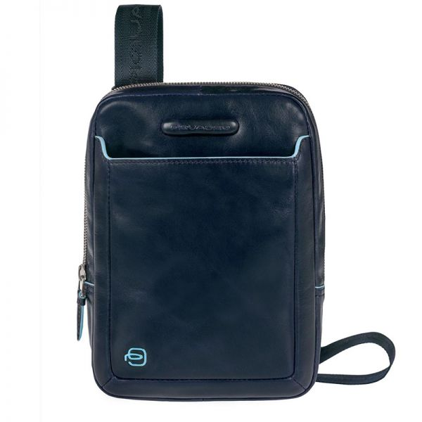 Луксозна чанта за рамо Piquadro, тъмносиня